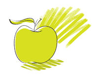 Apple icon, freehand drawing Royalty Free Stock Photos