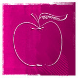 Apple icon, freehand drawing Stock Images