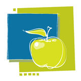 Apple icon, modern design Royalty Free Stock Image