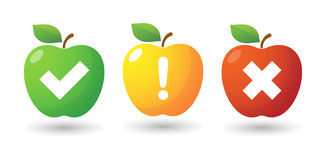 Apple icon set with survey icons Royalty Free Stock Image