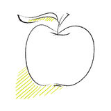 Apple icon, simple freehand drawing Royalty Free Stock Photography