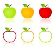 Apple icons Royalty Free Stock Photos