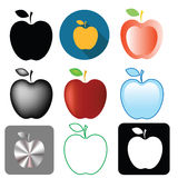Apple icons Stock Images