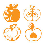Apple icons Royalty Free Stock Images