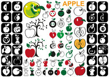 Apple icons Royalty Free Stock Photo