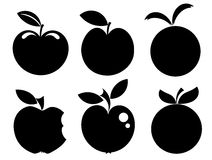 Apple icons - logos Royalty Free Stock Image