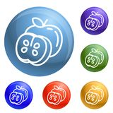 Apple icons set vector royalty free illustration