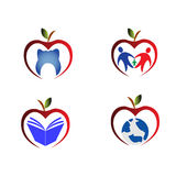 Apple icons Royalty Free Stock Photography