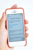 Apple ID security update on iPhone Royalty Free Stock Photography