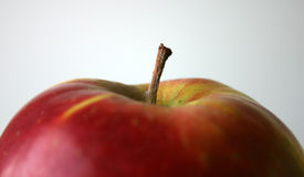 Apple III. Close-up of an apple royalty free stock photo