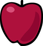 Apple illustration. Cartoon food illustration of a whole red apple Stock Photo