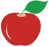 Apple. Illustration art of a apple logo with isolated background Stock Photos