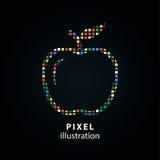 Apple - illustration de pixel illustration libre de droits