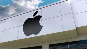 apple illustration imac inc λογότυπο στη σύγχρονη πρόσοψη οικοδόμησης Εκδοτική τρισδιάστατη απόδοση Διανυσματική απεικόνιση