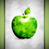 Apple-Aquarell Lizenzfreie Stockfotos