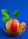 Apple In A Basket Stock Image