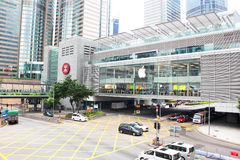 Apple Inc. opened its long-awaited first store in Hong Kong. The store is located on two floors linked by a glass spiral staircase in Central district royalty free stock image