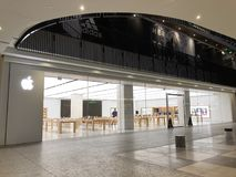 Apple, Inc. store in Century City. Los Angeles, CA: March 27, 2018: An Apple, Inc. store at the Century City Westfield mall in Los Angeles. Apple is a stock image