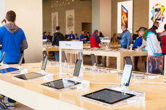 Apple Inc w Barcelona, Hiszpania fotografia stock