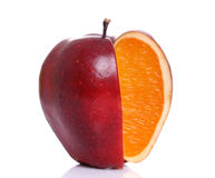 Apple with inside orange Stock Photography