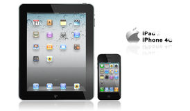 Apple iPad 2 and iPhone 4s Royalty Free Stock Photos