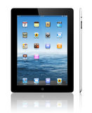 Apple iPad 3 black. The Retina display on the new, third-generation iPad makes everything look crisper and more lifelike Its the best mobile display ever, was Stock Photos