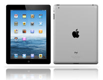 Apple iPad 3 black. The Retina display on the new, third-generation iPad makes everything look crisper and more lifelike Its the best mobile display ever, was Stock Images