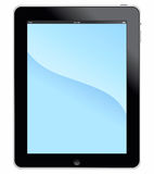 Apple iPad 3G with clipping path. Muenster, Germany - March 24, 2011: Illustration shows the Apple ipad 3G+Wifi digital tablet computer with multi touch screen Royalty Free Stock Photography
