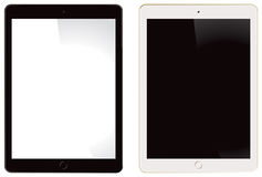 Apple iPad Air 2. A front view of the Apple iPad Air 2 in black and white Stock Photos