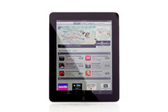 Apple iPad App Store. On White With Slight Reflection Royalty Free Stock Photos