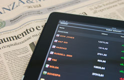 Apple Ipad Il Sole 24 Ore Stock Photography