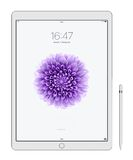 Apple iPad Pro. Cracow, Poland, November 18 2015: Presentation of new models iPad Pro from Apple Inc royalty free stock images