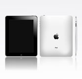 Apple ipad touch tablet pc(eps pending). View of an apple iPad from 3 different angles Stock Images
