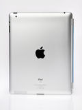 Apple Ipad2 Back View. Apple iPad2 with folded Smart cover, isolated on white. Back view Royalty Free Stock Photo