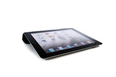 Apple iPad3. IPad3 with smart cover. A new way of communication Royalty Free Stock Photos