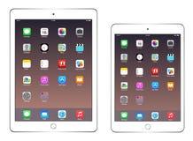 Apple iPadluft 2 och iPadkortkort 3 Royaltyfri Fotografi