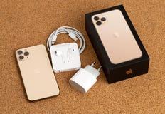 Free Apple IPhone 11 Pro On Cork Surface. Stock Image - 161304381