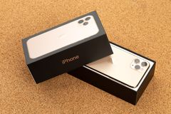 Free Apple IPhone 11 Pro On Cork Surface. Stock Photography - 161304382
