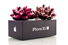 Apple iPhone 3GS Christmas Gift Royalty Free Stock Photos