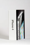 Apple Iphone 4 Box. On white Stock Image