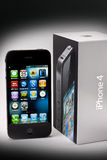 Apple iphone 4 and Box Stock Photography