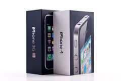 Apple iPhone 4 and iPhone 3GS Royalty Free Stock Photo