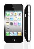 Apple iPhone 4 mit Ikonen nach innen Stockbilder