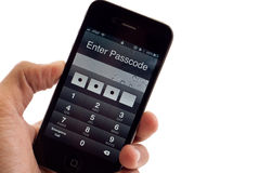 Apple iPhone 4 Security Code Stock Images