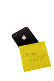 Apple iPhone 4GS and yellow page. Royalty Free Stock Photos