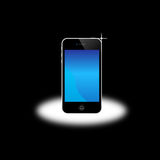Apple Iphone 4S 5. An image of the latest, market leading, Apple mobile phone iphone 4S 5 showing the touch screen and controls. The phone has a retina display Royalty Free Stock Photo