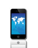 Apple Iphone 4S  5. An image of the latest, market leading, Apple mobile phone iphone 4S 5 showing the touch screen and controls. The phone has a retina display Stock Images