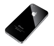 Apple iphone 4S back. Apple iphone 4S cell phone back illustration Royalty Free Stock Images