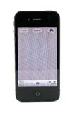 Apple iPhone 4s camera screen stock photography