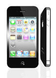 Apple iPhone 4S with icons inside Stock Images